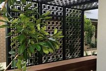 Patio Screens & Decor / Laser cut decorative and privacy screens solve many problems for patios and outdoor living spaces: they can filter the sunlight, create privacy, decorate a boring or odd space, and create a unique decor style to suit individual tastes. Here are some of QAQ's top patio projects and design style inspiration. ~QAQ