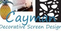 'Cayman' Screen Design / The 'Cayman' laser cut decorative screen design is modern, trendy, organic, and relaxed, and is our most popular design. Here is a collection of products and decorating styles that best match this design, many inspired by Caribbean and tropical climes.