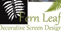 'Fern Leaf' Design / Our 'Fern Leaf' decorative or privacy screen design is for nature lovers who admire the symmetry and beauty of the fern leaf. Here is a collection of products and decorating styles that are inspired by the rain forests and fern-gullies around Australia.