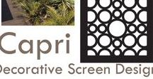'Capri' Screen Design / QAQ's circular pattern decorative screen design 'Capri' suits modern, minimalist design in products and interiors and has the vibrant, playful energy of its stunning namesake, the island of Capri, Italy. Here is a collection of products and decorating styles that this design inspires, plus a few gorgeous photos from the island of Capri.