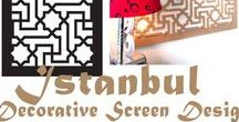 'Istanbul' Screen Design / Laser cut decorative screens, panels, and interiors in the 'Istanbul' Turkish style, evoking the opulence of the Ottoman Empire . 'Istanbul' is one of many screen designs available through QAQ Decorative Screens & Panels, manufactured in Melbourne, Australia.