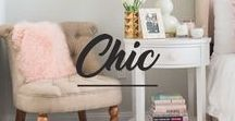 Chic Bedroom / Looking for inspiration for a chic bedroom? Look no further.