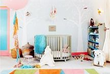 The Baby's Room / Eco Chic Baby + Toddler Nursery Inspirations: Nurseries should be a reflection of your family's needs, budget, and style. We love pinning modern + vintage style nurseries that are eclectic and colorful all while using eco-friendly approaches. Green Nursery Tips: Choose organic, or natural fibers (ex. rugs, crib mattress, blankets) if painting use no-VOC paint, buy untreated wood furniture when possible.  / by Green Family Hub