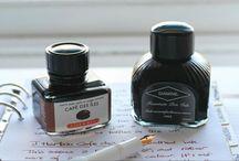 Writing paraphernalia / Pens, ink, paper