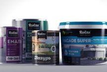 "Дизайн упаковки банок краски / Разработка дизайна банок краски торговой марки ""Rolax"""