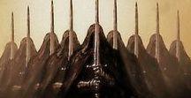 Středozem - Middle Earth / - filmy a knihy Pán prstenů - filmy a kniha Hobit - kniha Silmarillion