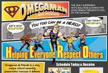 Superhero School Assembly / https://www.omegamanschools.com  Omegaman & Friends is a very unique school assembly presentation because it delivers the anti-bullying/character development message through a SUPERHERO Theme -- an image which youth look up to and mimic. More information go to www.omegamanschools.com