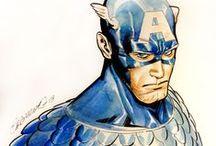 Marvel Heroes - Captain America Art