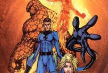 Marvel Heroes - Fantastic Four Art / Celebrating our favorite Marvel animation and comic art for The Fantastic Four: The Invisible Woman, The Human Torch, The Thing, Mister Fantastic.
