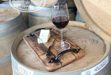 New Zealand wine barrel platters / Handmade rustic platters made from 100 year old retired wine barrel.