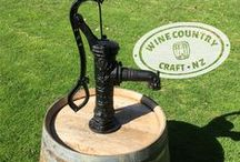 Rustic Water Features & Cast Iron Pumps / Beautiful and rustic water fountains made from cast iron.