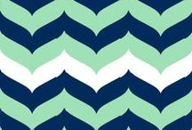 Classroom Decor / Theme for my new classroom: Fonts: Learning Curve, Block Letters Tryout Colors: navy, turquoise, green Patterns: Chevron, Polka dots