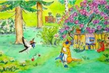 Happy paintings and illustrations. / Some of my paintings and drawings. I love children stories, fairy tales, foxes, houses and winter and happy things.