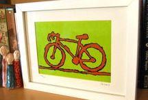 artist on a bike - gifts/art / I ride, I draw, I make bike related art and gifts.