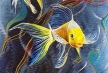 Рыбки-кораблики / декупаж
