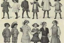 1920-luvun tyttöjen vaatteiden muotipiirroksia (myös 1910-lukua mukana)