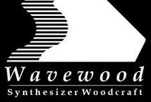 Wavewood Synthesizer Woodcraft / Custom made, Individual design wood panels & stands for various Synthesizers and Studio Gear. 2009 - 2016