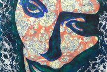 Portre , portrait , / Contemporary paintings-unique artworks by Asaralart  #portre # portrait #sanat #art# resim#ebru#