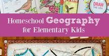 HOMESCHOOL - USA Geography / Homeschool ideas related to USA Geography for Elementary Kids