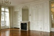 Paris Apartment Envy / My place is so tiny, so I dream of my big Haussmann palace with high ceilings, chevron parquet, balcony—oh, and a fireplace. Did I mention views of the Seine might be nice?