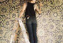 Kleuren behang wallpaper interieur / by Lieke