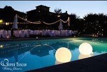 Wedding Lights Ideas / Charming atmospheres with architectural lighting and the work of specialists in the sector! See our lovely and romantic nights! by www.supertuscanweddingplanners.com