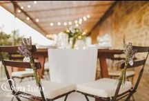 Wedding Chair Decoration Ideas / Look at our idea to decorate the spouses's chairs and your guests' chairs too! Read more at www.supertuscanweddingplanners.com