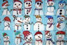 Zima,vánoce / tvoření