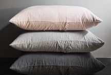 .quilts, pillows and blankets.