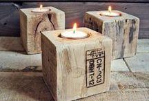 DREWNO - dekoraje / drewniane dekoracje DIY