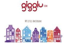 My Little Amsterdam Series / A first series of gigglu textile product - big, soft pillows dedicated for kids and some grown-ups :)