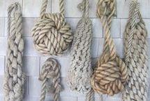 SZNUREK/ NICI/ LINY / dekoracje z wykorzystaniem sznurków nici i lin. DIY