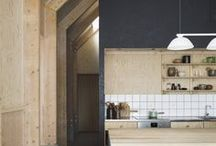 Plywood Basement Spaces / Inspo for creating spaces with plywood.
