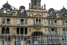 Eastbrook Hall, Bradford / Eastbrook Hall, formerly the Methodist Cathedral of the North, was opened in 1904 but was empty since the 1980s and a major fire in 1996 left it derelict, burnt out and roofless.In 2007 whilst mid-refurbishment the façade began to move and Stone Edge was recruited to carefully dismantle the entire façade including cupola and move to storage. The façade stone restoration was completed in 2008 with all many fire-damaged detail being hand carved and replaced by Stone Edge.