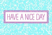 Have  A Nice Day Font / Have A Nice Day is a handwritten font created by Cindy Kinash. This font features three font styles (Basic/Tall/Wide) and comes in three weights (Light/Regular/Bold). All three font styles can be used together as one unique and fun font!  This font also includes a set of fun hand drawn ornaments like smiley faces, flowers, leaves, insects, frames, captions, desserts, food, clouds, and catchwords that will surely brighten your day! Enjoy!