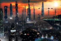 """Sci-fi refs : outdoor / References about sci-fi """"outside"""" elements sucha as landscapes, cities, industrial complexes, etc."""