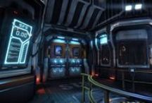 """Sci-fi refs : indoor / References about sci-fi """"inside"""" elements such as corridors, engineering rooms, doors, etc."""