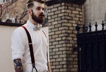Boys, Beards, Bowties / A collection of well-dressed and attractive men... and a lot of them have beards.