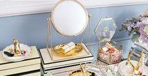 Toaletka / Pomysły na kobiecy kącik - kosmetyki, biżuteria, przechowywanie...