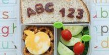 Back to school lunch bento * Cijfers en letters / Inspiratie, tips, ideeen voor leuke lunches, broodtrommel, lunchtrommel, bento box voor als de school weer begint. Back to school bento's. Maak een gezonde en gevarieerde lunch met cijfers of letters van brood, groente of fruit.