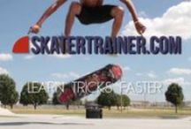 Skateboarding / #skatertrainer can help you learn to skate! We love all things skateboarding related. Check out this board and follow us on FB and Instagram too! #skateboard #skating #learntoskate