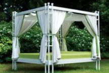 The Great Outdoors / Outdoor wicker, aluminum and outdoor fabrics