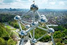 Panoramic View from the Atomium / The most striking #panorama (360°) over #Brussels [92m]