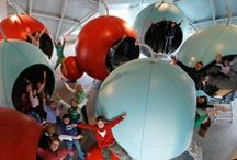 Atomium - Kids' Sphere / The creation and development of the Kids' sphere was the result of the Atomium's desire to create an educational project based on the building's characteristics and features as well as its history and its symbolic value.   The resulting project invites children to spend a night at the Atomium; to marvel at the panoramic view of Brussels from its spheres; and to make the most of their visit to discover other symbolic parts of Brussels.