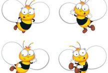 Buzz-Worthy Bees Classroom Theme / Buzz-worthy bees are cute, industrious and refreshingly different. Lots of these little bees are gainfully employed fetching and carrying. Bees appear on accent cards, stickers, bulletin board sets, trimmers and incentive pads and many other educational resources. A marvellous classroom theme that can lead to other exciting studies such as honey making or the importance of cooperation. Bees are also a fun art and craft subject with scope for 3D creativity.