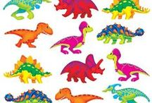 "Dino-Mite Pals Classroom Theme / While dinosaurs were known as ""terrible lizards"" these Dino-mite Pals are of the more friendly persuasion! While easily recognisable in their cartoon form, they are colourful, cheerful and a tad on the cheeky side. Due to the extensive range, theming your classroom will be easy. There are loads of decoratives and rewards to compliment other items in this range."
