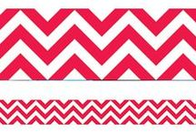 Chevron Classroom Theme / Chevron patterning is fast becoming the most fashionable trend in both clothing and interior design! Now available in classroom decor, this bold zig-zag style is easily recognisable and coordinates well with plain or busy patterns. The strong, distinctive sawtooth element offers and contemporary look that works well with other classroom décor.