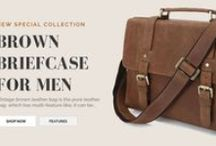 Leather Briefcases / Here you see high quality leather briefcases for both men and women of all social status. The briefcases are made from pure leather materials. The leather briefcases here are for men and women.