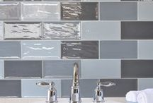 Grey brick tiles - flat metro tiles for bathrooms & kitchens / Our grey brick tiles offer a lovely choice of flat grey tiles (as opposed to bevelled tiles) for stylish bathrooms and kitchens.
