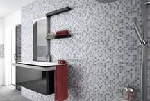 Grey mosaic tiles / Grey mosaic tiles perfect for feature walls, trims and kitchen splashbacks. Create your own style with this beautiful choice of gloss or matt grey mosaic tiles.